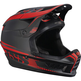 IXS Xact Fullface Helm, black/fluo red